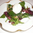 Goat Cheese Salad with Pancetta, Dried Cherry and Port Dressing
